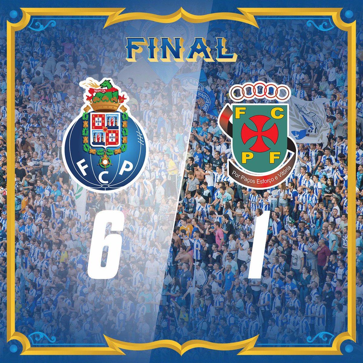 Final de Jogo / End of the match / Final del Partido  ⚽ Ricardo ⚽ Felipe ⚽ Marega ⚽ Marega ⚽ Corona ⚽ Aboubakar  #FCPorto #FCPFCPF