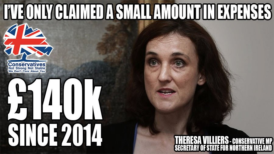 Theresa Villiers. Expenses scandal;Supports fox hunting/badger cull; Voted against Human Rights; Tuition Fees; Homes fit for humans #Marr <br>http://pic.twitter.com/UI1XGurIP5