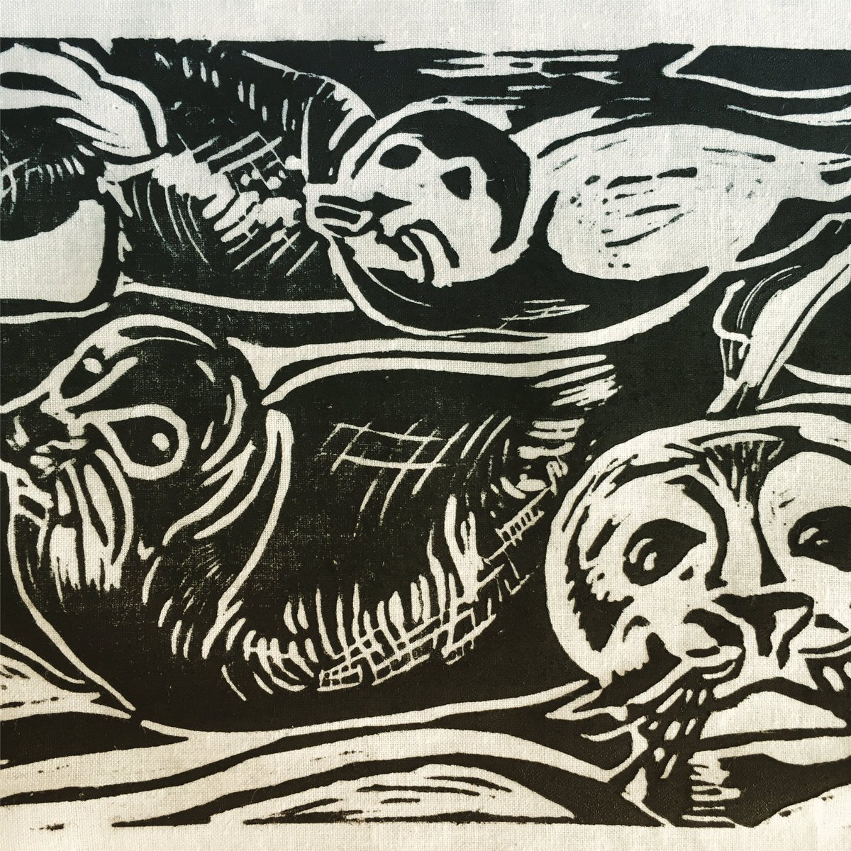 My seals from my #linocutting #workshop @EJGallery today<br>http://pic.twitter.com/eh13OnJW4t