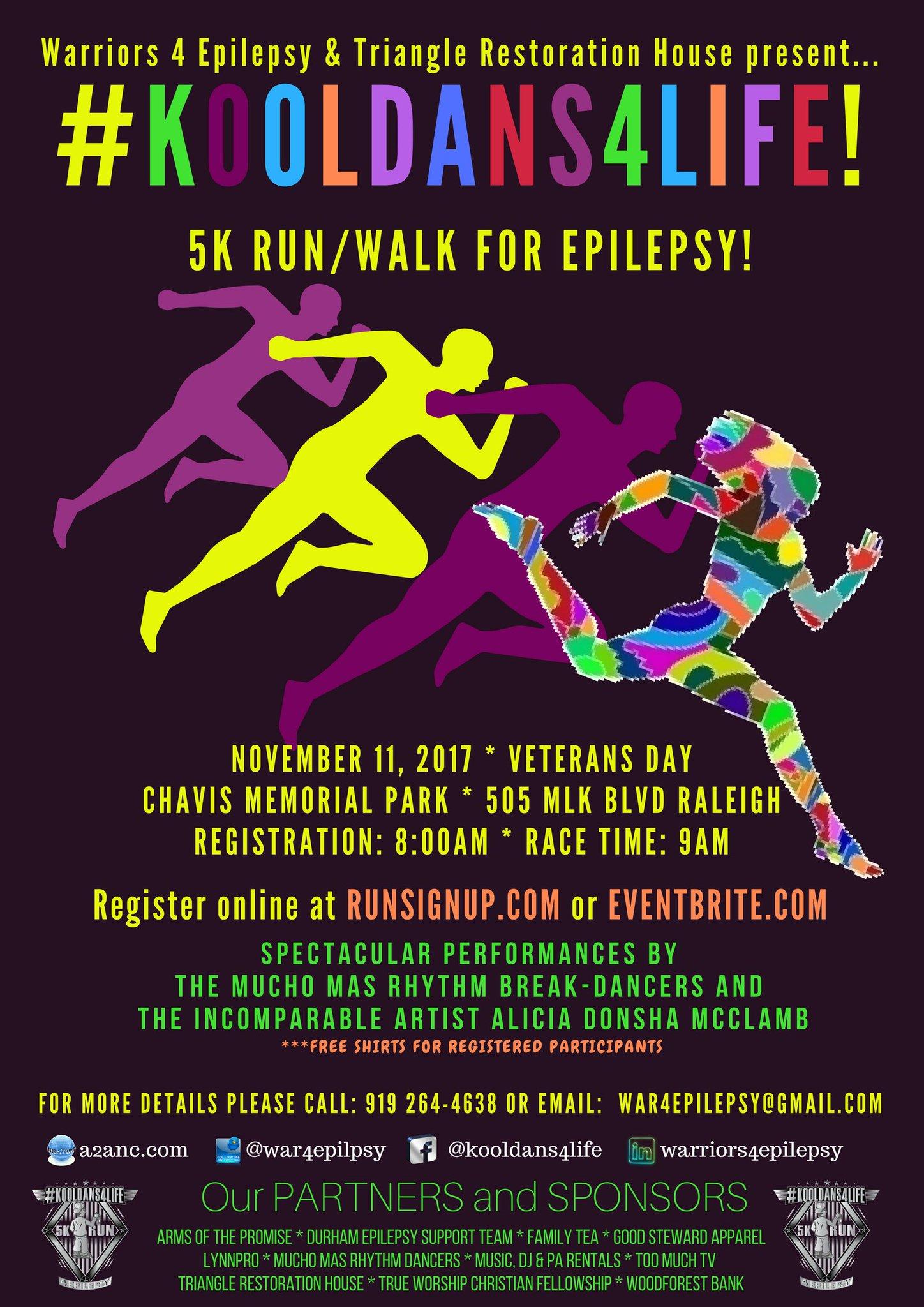 Kool Dans 4 Life 5K Run for Epilepsy
