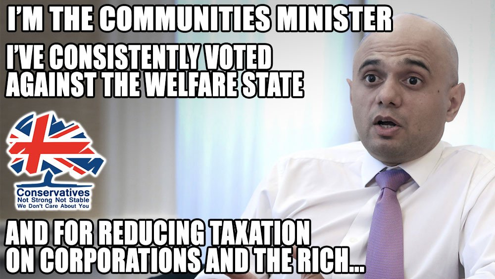 Sajid Javid the Communities Minister - much like most in the cabinet, doesn&#39;t qualify for his job,doesn&#39;t believe in Community #Marr #Peston<br>http://pic.twitter.com/U8RJxjrTXH