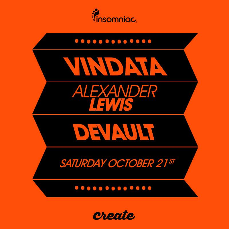 Catch @Vindata, @_AlexanderLewis, and @devaultmusic tonight at @CREATEnightclub!   Tickets: https://t.co/Bjz6bFIaUP https://t.co/9uYk7aXp5k