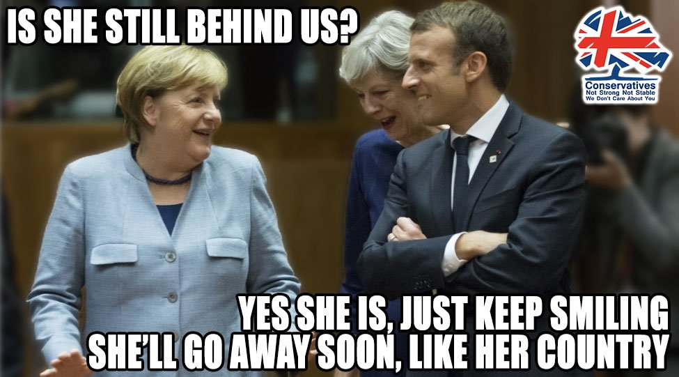 Theresa May,still awkward, still not fitting in. We need to embrace our neighbours - show some warmth. Maybot can&#39;t do that #ResignNow #Marr <br>http://pic.twitter.com/Ylbayn2CC4