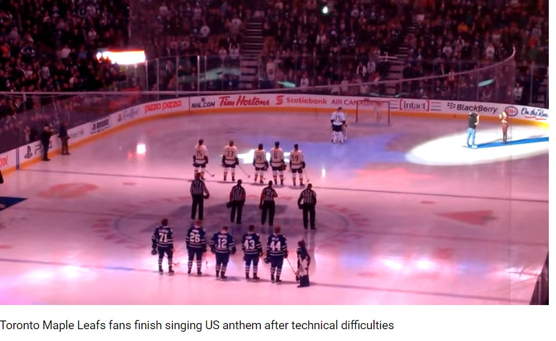 #Friends sing both #US &amp; #Canadian #national #anthems. A demonstrating #real #friendship!  https:// youtu.be/mHSaHRd4Q48  &nbsp;    <br>http://pic.twitter.com/jdjhWIt05I  https:// twitter.com/ClimateAudit/s tatus/921858660099338241 &nbsp; …