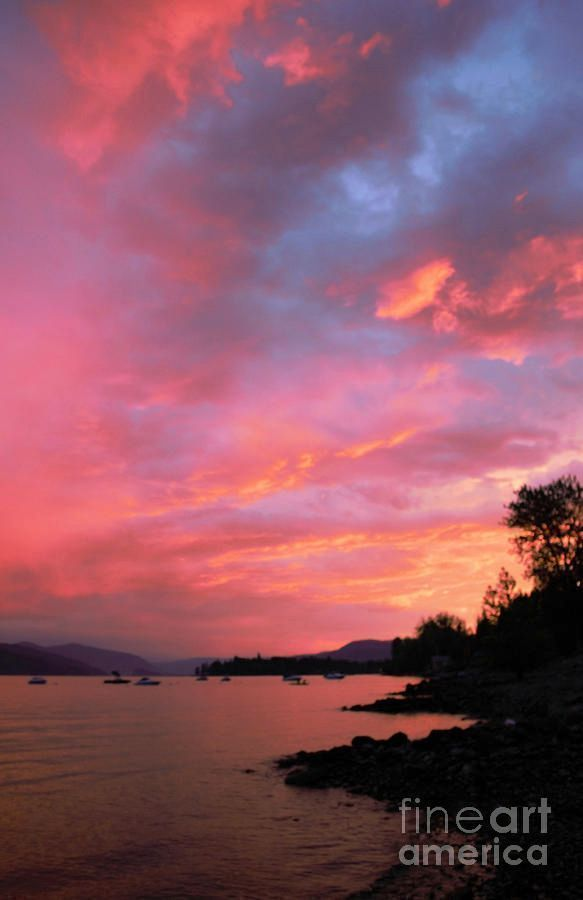 Summer Sunset by Victor K  http:// bit.ly/2gyKn5c  &nbsp;   K #quietness  #fineart #romantic #landscape #big #Shuswap #WallArt  #sunset #summer <br>http://pic.twitter.com/lDyJmIpRvo