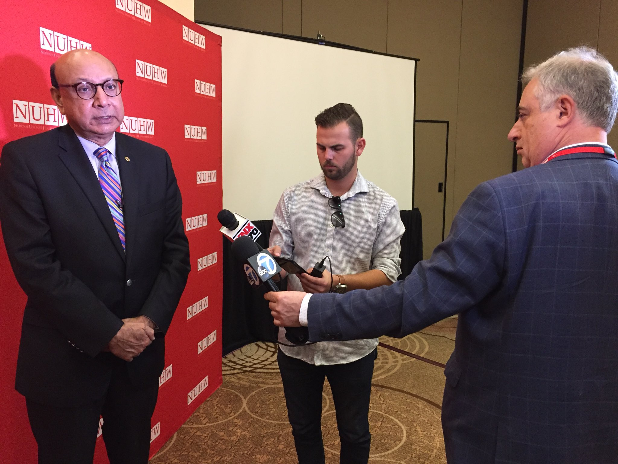 Khizr Khan at the National Union of Healthcare Workers conference in Anaheim on Saturday. (Phil Willon / Los Angeles Times)