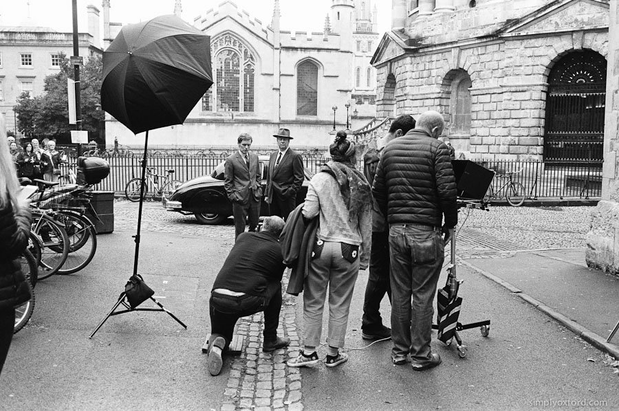 Small #Endeavour blog post, photographer at work on promo photo shoot in Oxford:  http://www. simplyoxford.com/?p=3943  &nbsp;   #Leica M6, Eastman Double X #film<br>http://pic.twitter.com/1yUXOJ0mjL