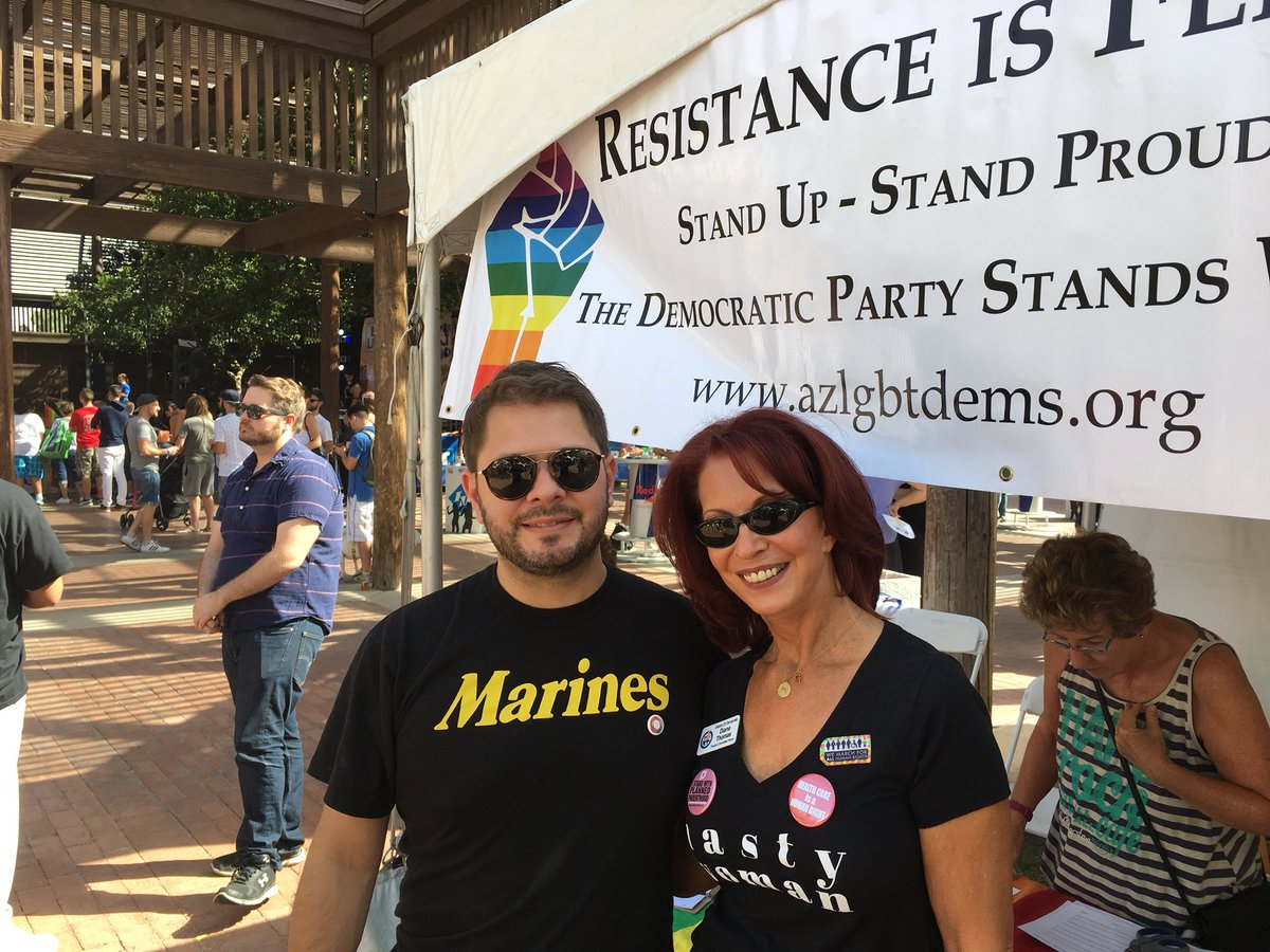 Very excited to hang with @RepRubenGallego at the Phoenix Rainbows Festival in the #Proud #Democrats booth!<br>http://pic.twitter.com/wyhnLVPHlT