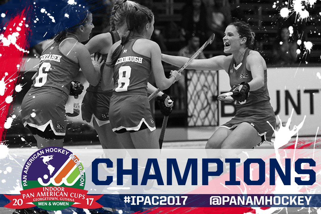 After edging ARG 🇦🇷 2-1 in the women's Indoor Pan American Cup final, the Indoor USWNT is @FIH_Hockey Indoor Hockey World Cup bound!#GoUSA🇺🇸
