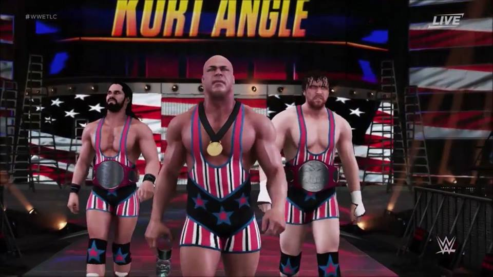 Forget the #SHIELD when you have #TeamAngle 2.0 at #WWETLC. lol https:...