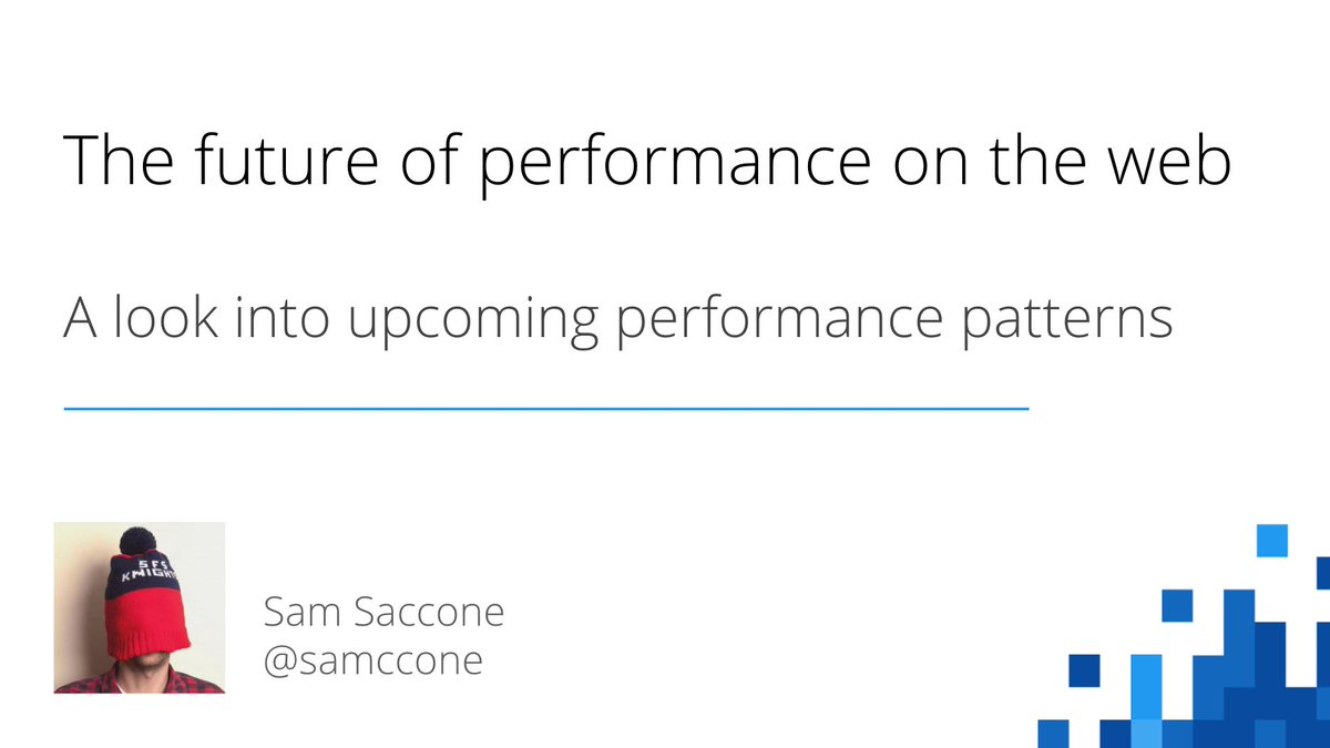 On Tuesday I will be at #ChromeDevSummit speaking about future perform...