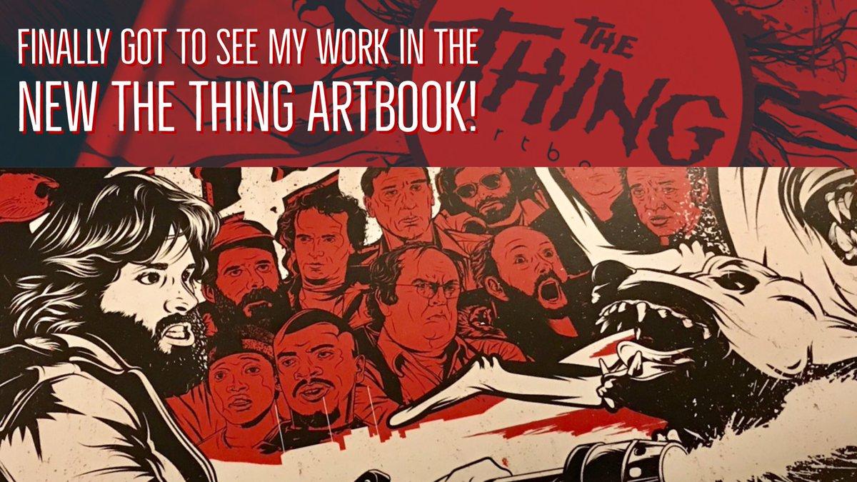 Finally received my artist copies of #thethingartbook!! #thething #alien #horror #vector  #illustrator #adobe #wacom #kurtrussell @posterspy<br>http://pic.twitter.com/HjofINZgUv