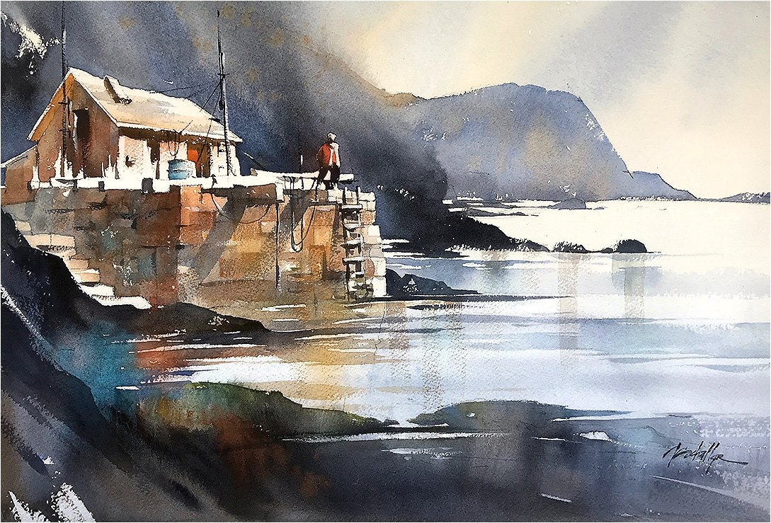 Cabin in Norway #norway #cabin #sketch #light #watercolor #thomaswschaller<br>http://pic.twitter.com/Bzb56udq0O