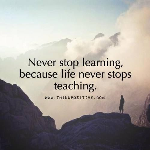 Never stop learning because life never stops teaching  #ThinkBIGSundayWithMarsha #makeyourownlane #defstar5 #mpgvip<br>http://pic.twitter.com/irHPxJqi29