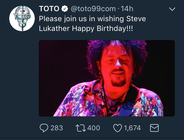 Happy Birthday Mr. Steve Lukather! Follow for more updates on your favourite Rock N Roll bands.