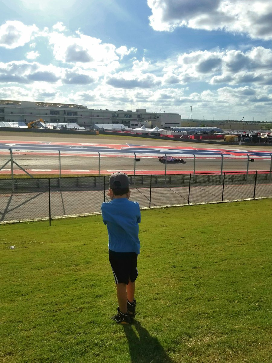 My 7 year olds first #usgp @ #COTA #Quali . A day he will never forget. #circuitoftheamericas staff &amp; venue was world class! #f1 #forceindia <br>http://pic.twitter.com/4dleIsDVAd
