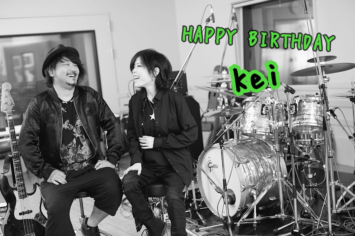 Happy Birthday to my friend, and awesome bassist, Kei. Keep rocking on. #HappyBirthday <br>http://pic.twitter.com/BZZipajBDm