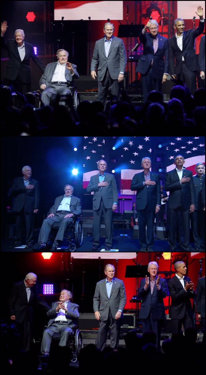 All five living former US #President #BarackObama #GeorgeWBush #BillClinton #GeorgeHWBush and #JimmyCarter #OneAmericaAppeal<br>http://pic.twitter.com/UbsF8I5UhB