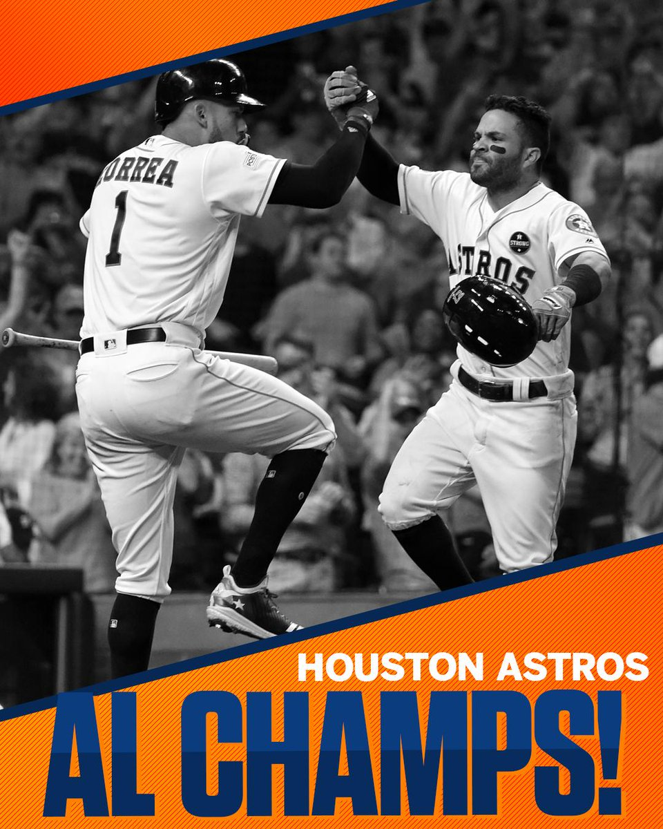 The Astros are going to the World Series!  Houston takes Game 7 to advance to its 2nd World Series in franchise history.