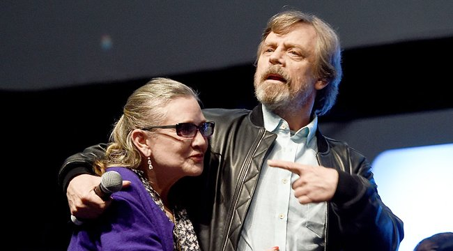 Mark Hamill led a chorus of celebrity \happy birthdays\ to the late Carrie Fisher