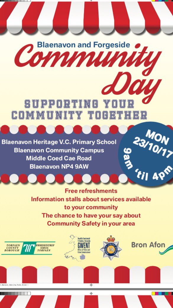 Come and join us tomorrow for the Blaenavon &amp; Forgeside Community Day. Info on lots of agencies and how they can benefit you #freebies  <br>http://pic.twitter.com/BLbv6oThJH