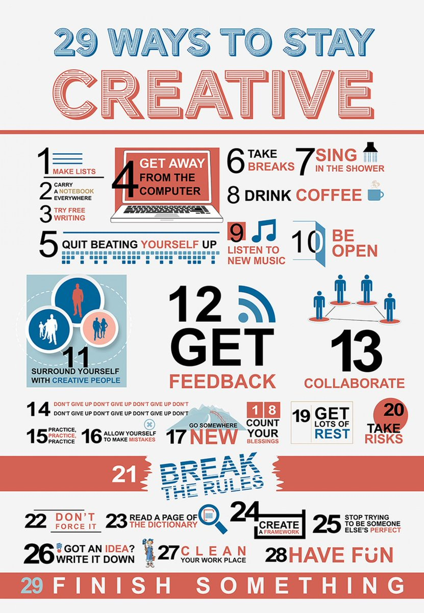 Thank God its #Sunday! Time to get #Creative. Here's 29 ways.   As they say, #creativity is #intelligence while having #fun.<br>http://pic.twitter.com/GsHPsMXKVr