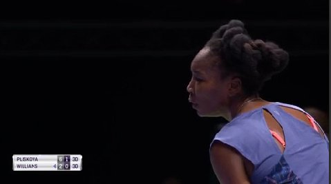 That&#39;s a big hold from #Williams, who fends off break point to even the second set.  1-1 <br>http://pic.twitter.com/mYwnV8wdZk
