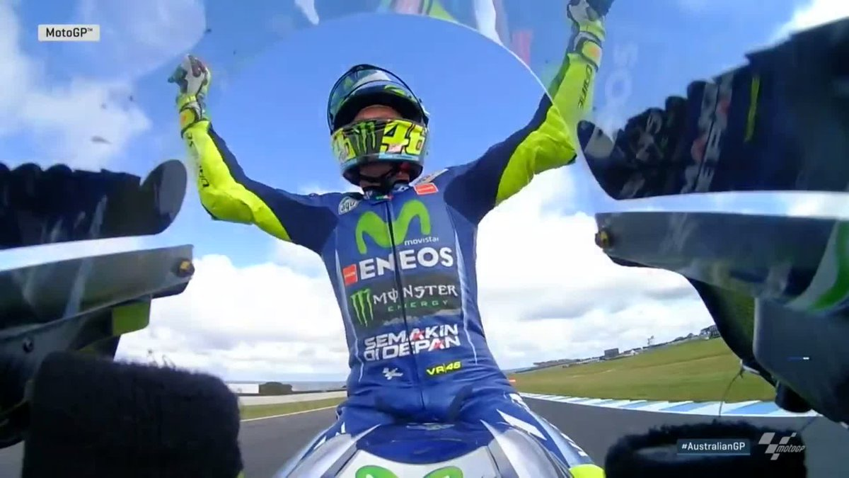 Welcome back to the podium @ValeYellow46!🙌  2nd place... still got a b...