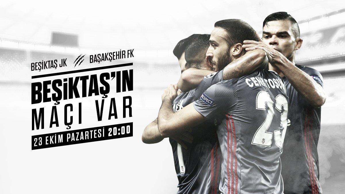 Beşiktaşımız, Süper Lig\'in 9. haftasında M. Başakşehir ile karşılaşacak. #Beşiktaş