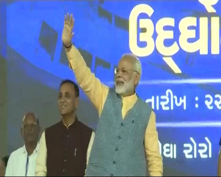 LIVE: PM Modi addressing gathering in Ghogha, Gujarat https://t.co/JQJlKYWHWM
