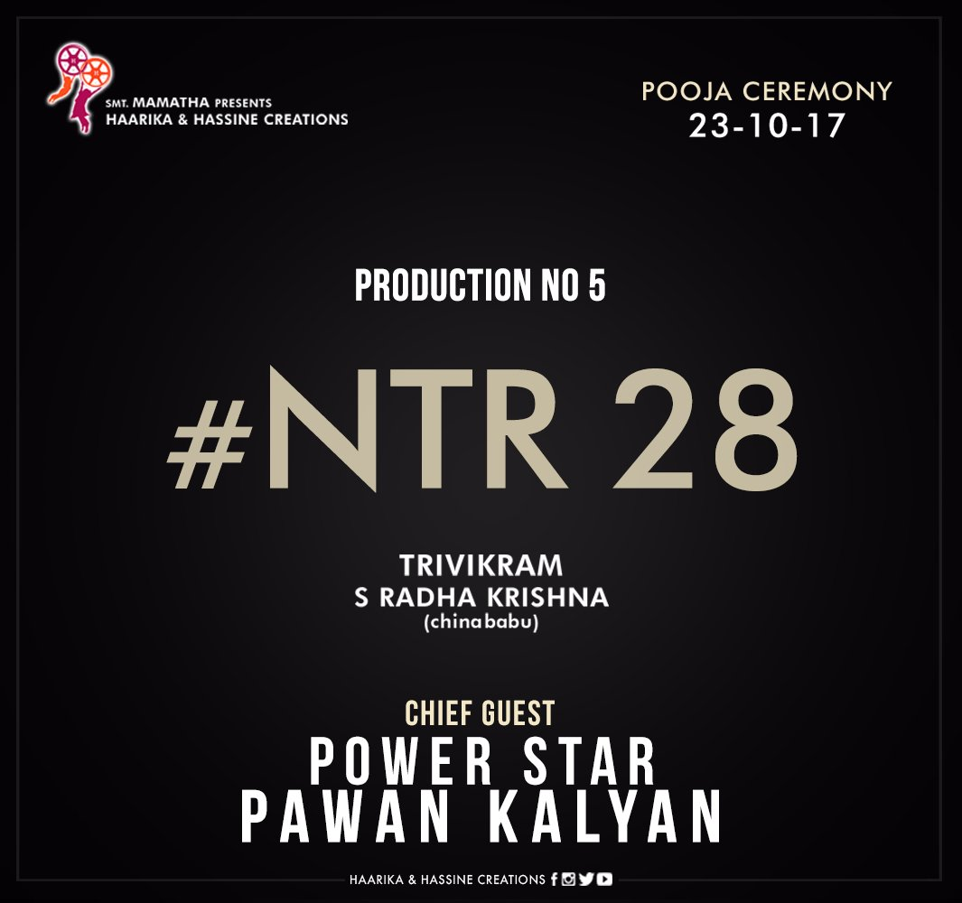It's official.. #NTR28 pooja ceremony tomo, with #PSPK as the chief gu...