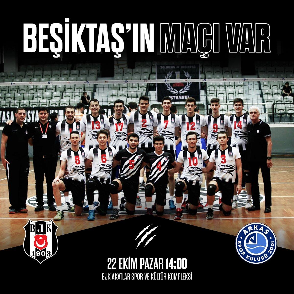 Erkek Voleybol Takımımıza Efeler Ligi\'ndeki Arkas Spor maçında sonsuz başarılar #FileninKartalları #Beşiktaş