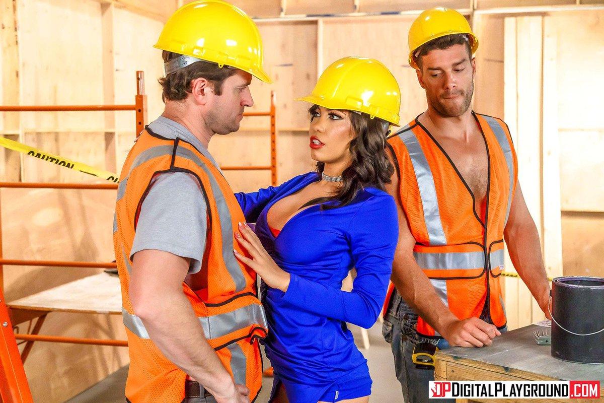 Slut Bridgette B Plays With Construction Guys Huge Cock