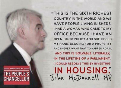 John McDonnell has come up with a revolutionary idea. Build council homes and massively reduce homelessness. #Marr #Peston<br>http://pic.twitter.com/TOVqk0LLpv