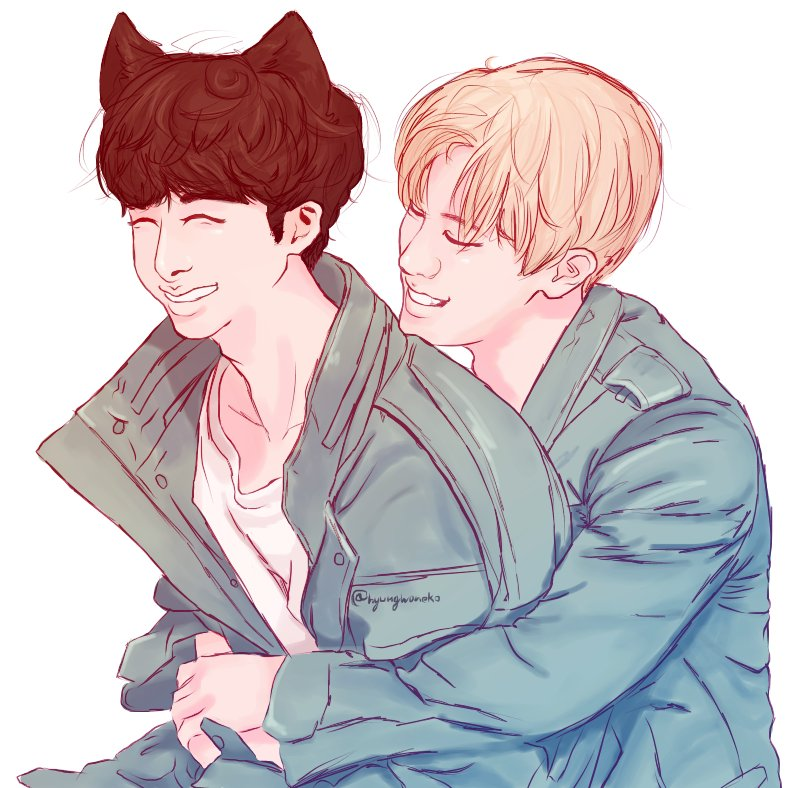 they are the cutest #hyungwonho #hyungwo...
