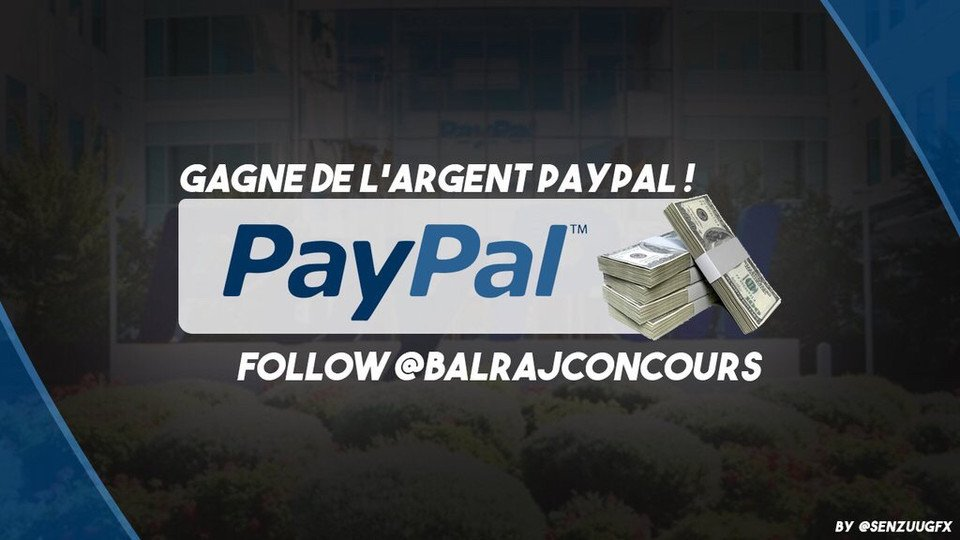 #DAILY #GIVEAWAY  WIN 1€ PAYPAL  #RT #FOLLOW ME + @BalrajConcours &amp; @MrBiz_FR     ENDS: 6PM<br>http://pic.twitter.com/7nADm4x8us
