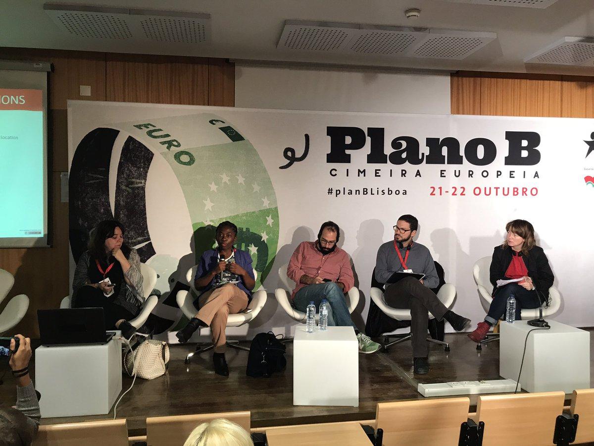 Au #PlanBLisboa @Deputee_Obono intervient dans le débat sur l'impact de l'austérité sur les inégalités de genre