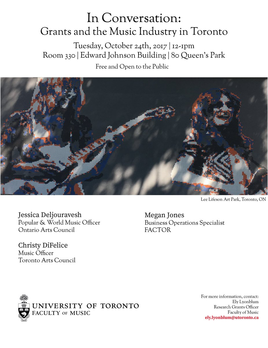 U Of T Music On Twitter Tue Oct 24 12 1pm Join Us For In