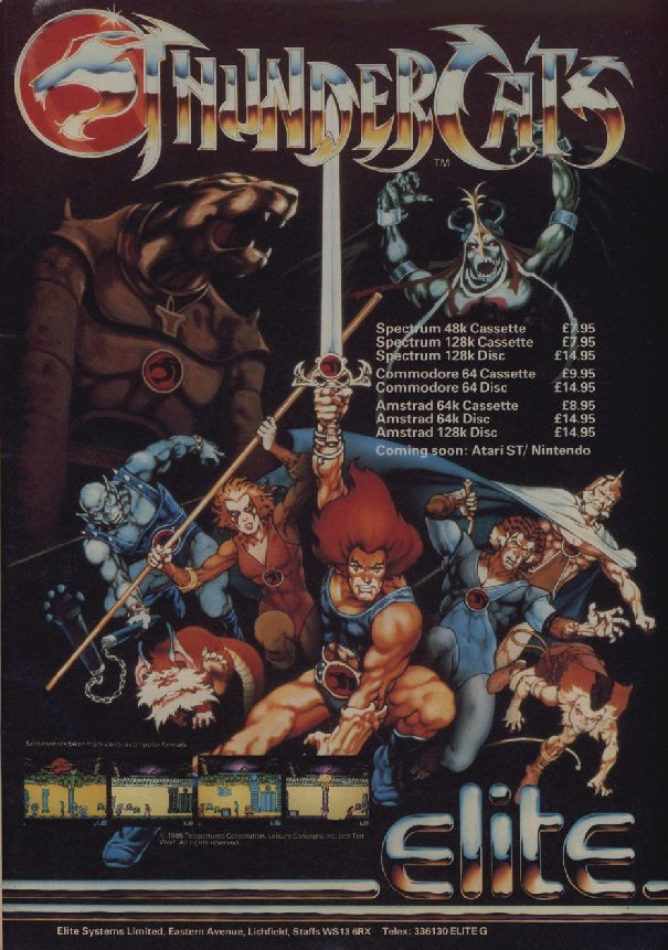 #30YearsAgo #Hace30Años THUNDERCATS from Elite Software Did you play this game? #ZXSpectrum #Amstrad #Commodore #retrogaming<br>http://pic.twitter.com/gxJotMnh09