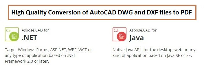 Aspose.CAD #APIs for #DotNET &amp; #Java allow #developers to #convert #AutoCAD #DWG &amp; #DXF to #PDF &amp; Raster #images.  https:// goo.gl/FqIlVX  &nbsp;  <br>http://pic.twitter.com/htTFt1e1Oy
