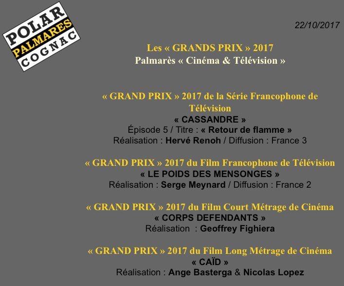 Et le Grand Prix du Jury du Festival de #Cognac est attribué à... #Cassandre ! Meilleure Série Francophone 2017 ! Immense bravo aux équipes  - FestivalFocus
