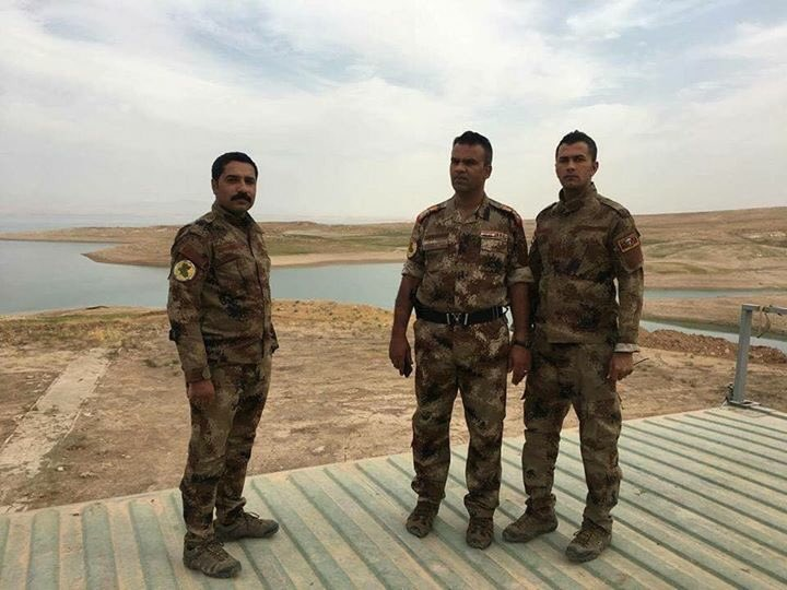 Iraq Army 15th Div handed over Mosul dam security to Counter Terrorism units earlier today.