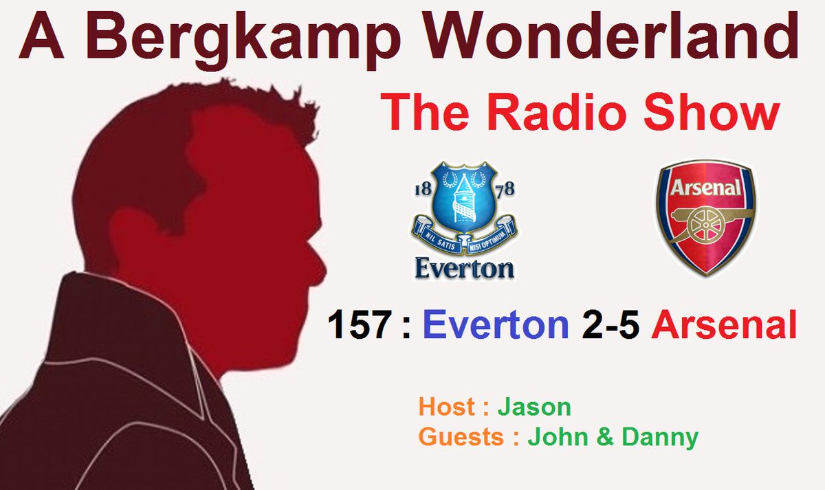 The #ABWRadioShow : 157 - #Everton 2-5 #Arsenal  #EFCvAFC - Come join us live in a few mins  Jason, John &amp; Danny   https://www. youtube.com/watch?v=3Ue0vS 0YV-0 &nbsp; … <br>http://pic.twitter.com/o3FQEhqkqq