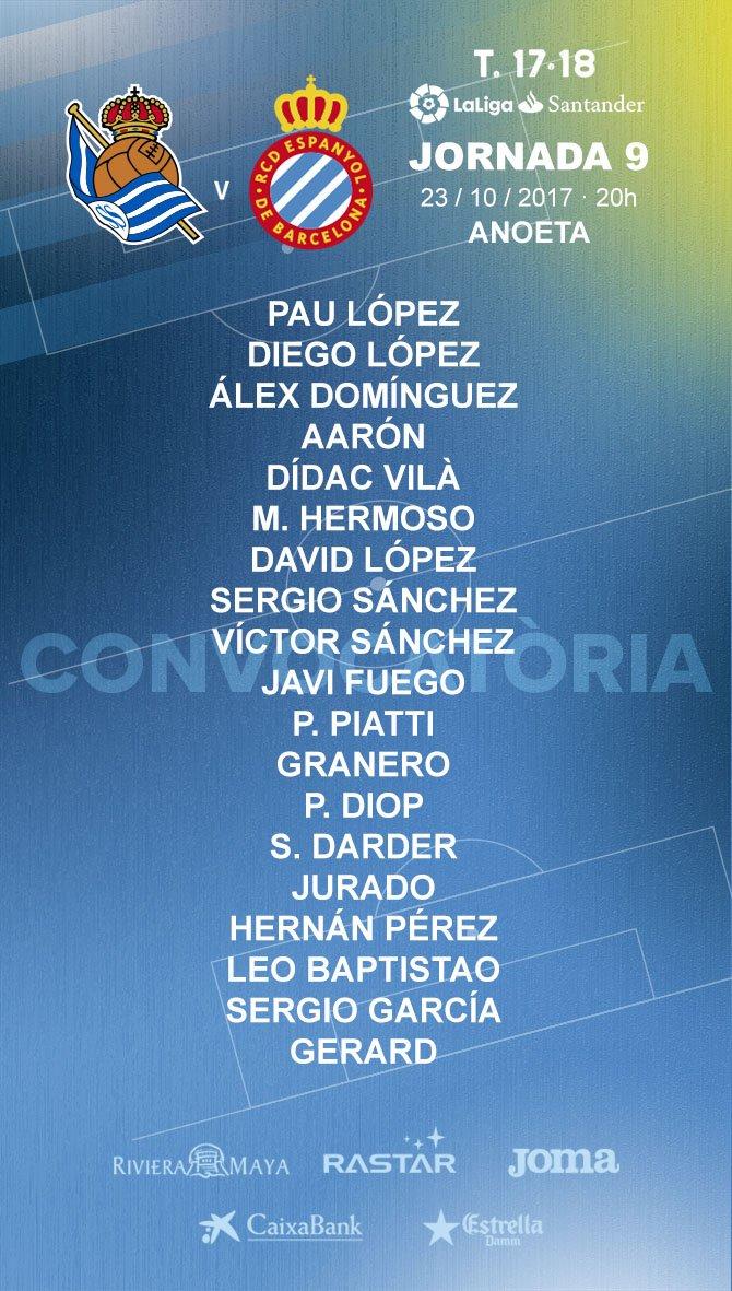 Ja tenim convocatòria per jugar davant la @RealSociedad! Quin seria el...