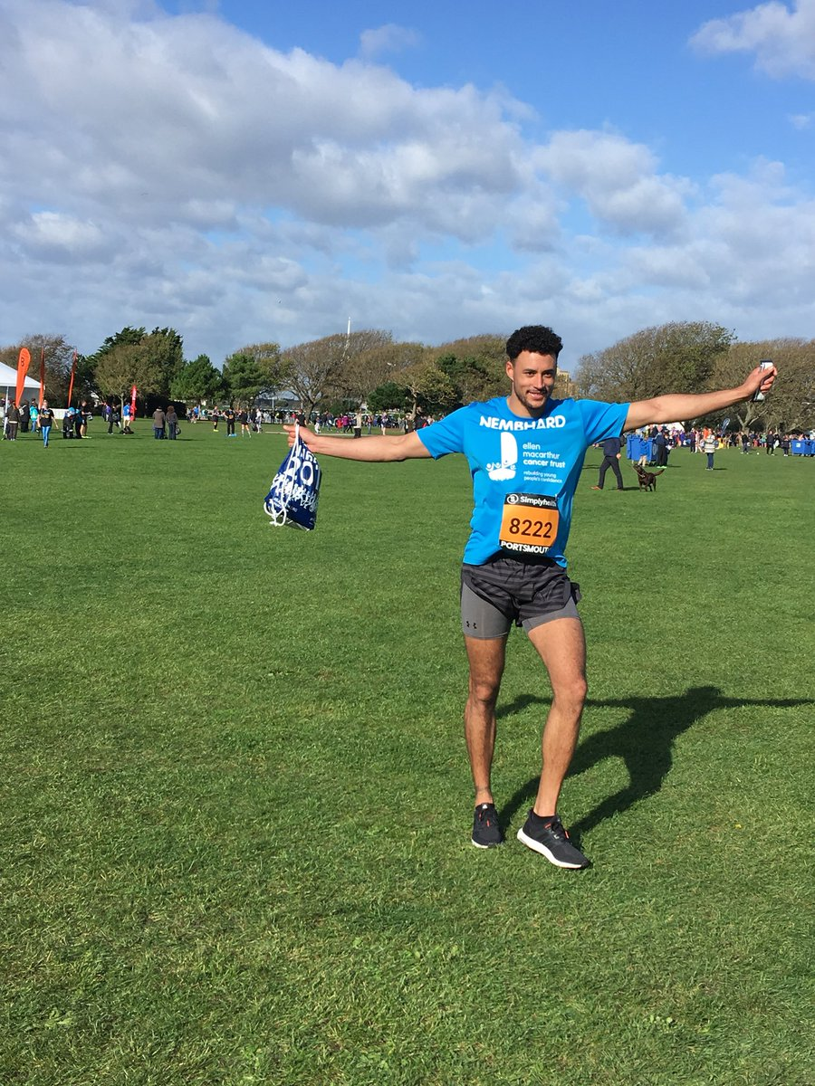 Our first runner Ricardo is back! Well done! @Great_Run #greatsouthrun #confidenceaftercancer