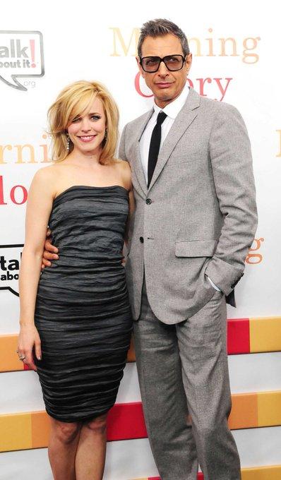 Happy Birthday, Jeff Goldblum! Rachel and Jeff costarred in (2010).