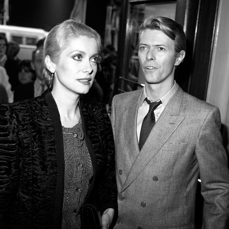 #CatherineDeneuve with #DavidBowie circa 1983 <br>http://pic.twitter.com/D5oZNtwvaF