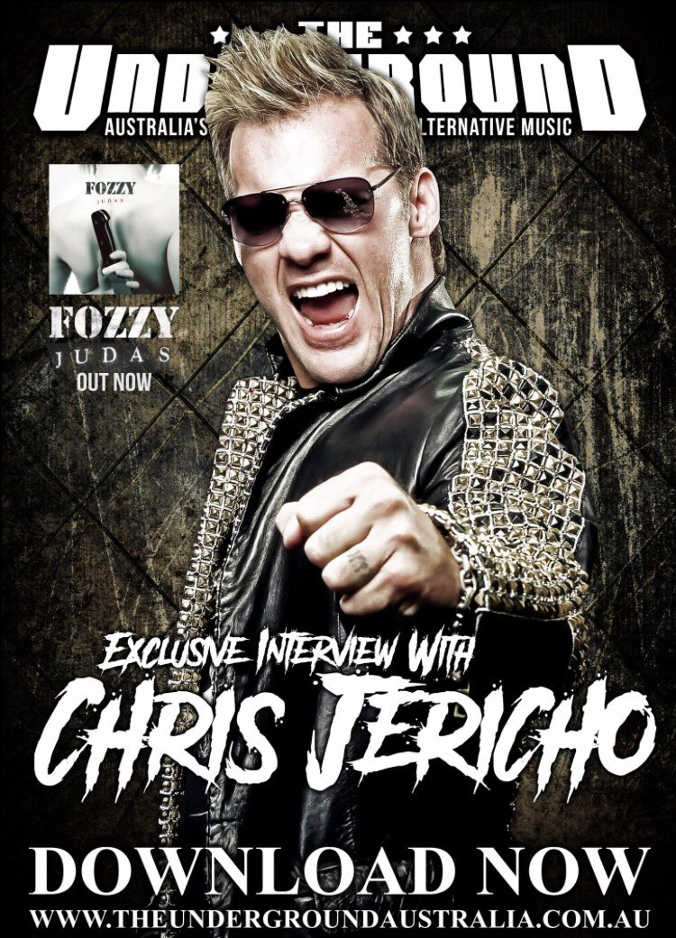 Our latest interview features @chrisjerichofozzy who discusses @fozzyrock &#39;s latest album #judas and so much more  Listen in at:  http://www. theundergroundaustralia.com.au  &nbsp;   #chrisjericho #fozzy #interview #podcast #outnow #listennow #shaynekraftgraphics #rock #music<br>http://pic.twitter.com/lTIV7Bdtnc