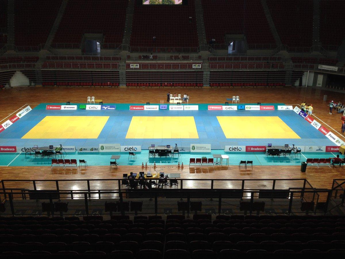 Tudo pronto para o 2º do #CBIJudo Sub 15! 8 categorias em ação neste domingo no Centro de Formação Olímpica/CE, a partir das 11h (Brasília)!