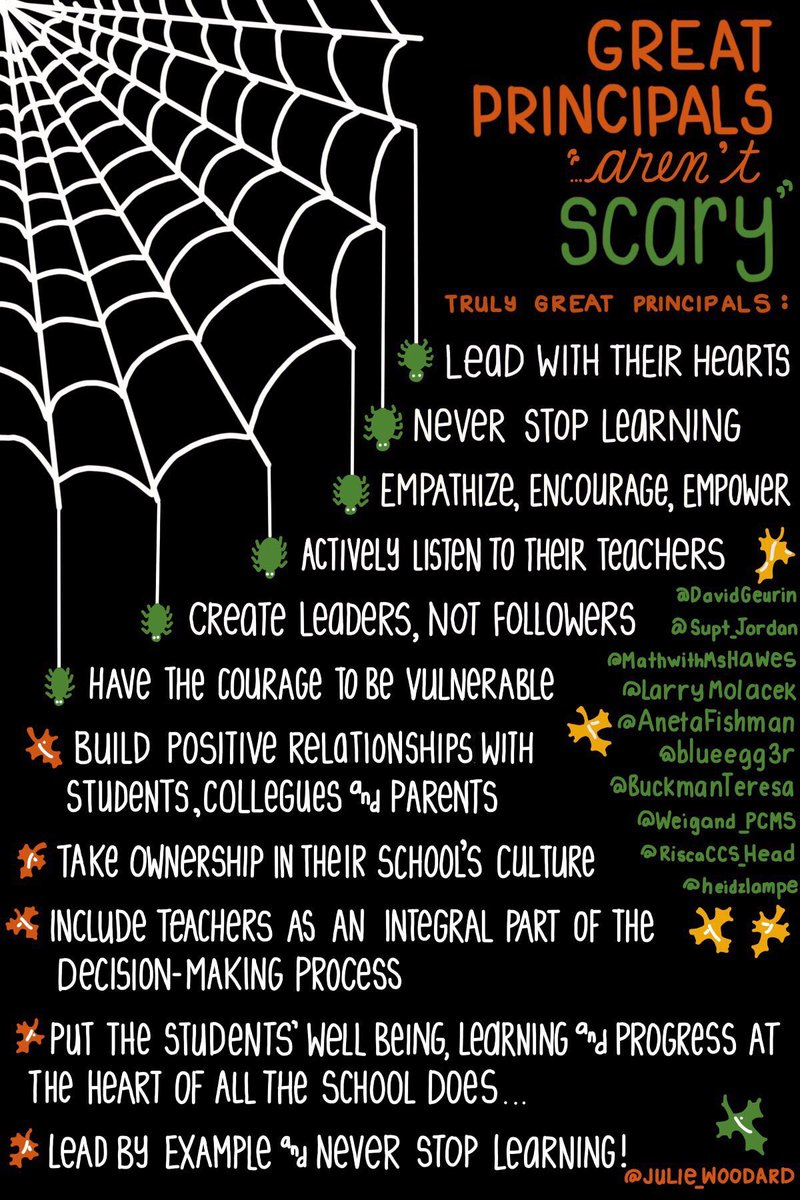 Great Principals Aren't Scary! 11 Qualities of Amazing Principals  (by @woodard_julie) #edchat #education #elearning  #ukedchat<br>http://pic.twitter.com/JOcvaqrmGz
